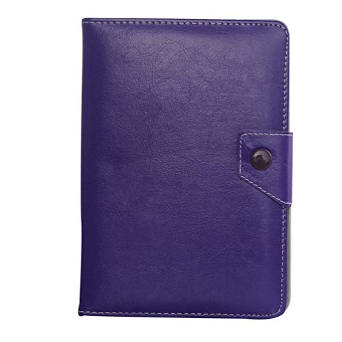 10 Inches Universal Type Exquisite Tablet Case Imitation Leather Stand Practical Protective Cover Case(Purple)