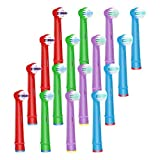 WyFun ブラウン オーラルB 対応 電動歯ブラシ 子供用 EB10 すみずみクリーンキッズ やわらかめ 対応 オーラルb 替えブラシ 子供 (16カウント)