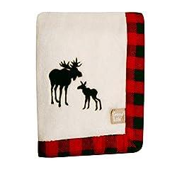 Trend Lab Northwoods Framed Receiving Blanket, Moose Applique by Trend Lab