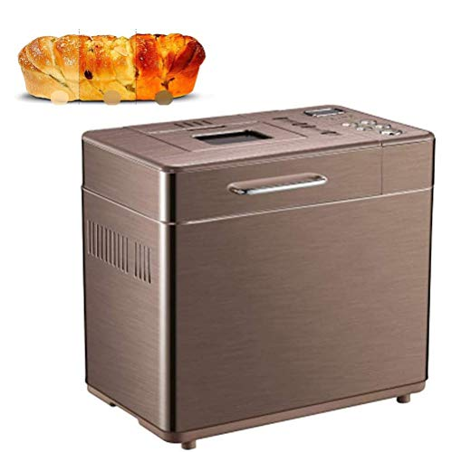 VIVICL Bread Machine Automatic Stainless Steel Toasters Multifunctional 3 Crust Colors, 19 Menus with Gluten Free, 15h Delay Time, 1h Keep Warm, Home Bakery 220V