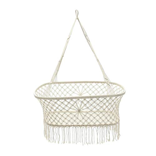 White Cotton Baby Garden Hanging Hammock Product Image