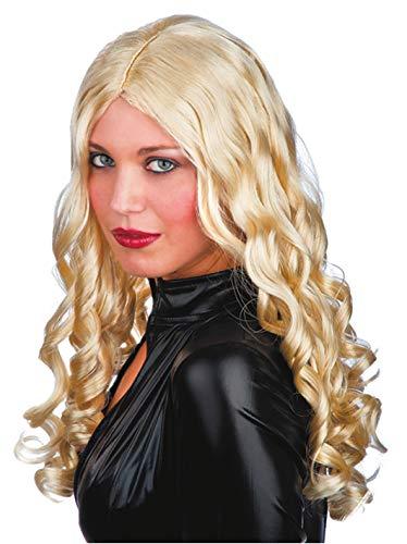 Perruque pour homme blonde cheveux frisés dans une boîte pour carnaval