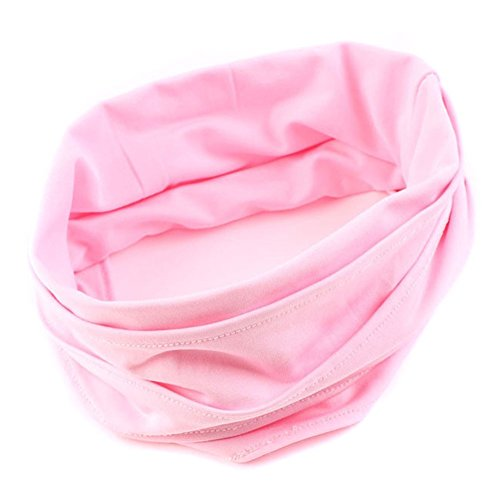 TININNA Hair Accessories Tissu Cheveux Serre-tête Complet Vintage Large Ruban Bandeau Cheveux Bande Bandanas Echarpe Mode Rose