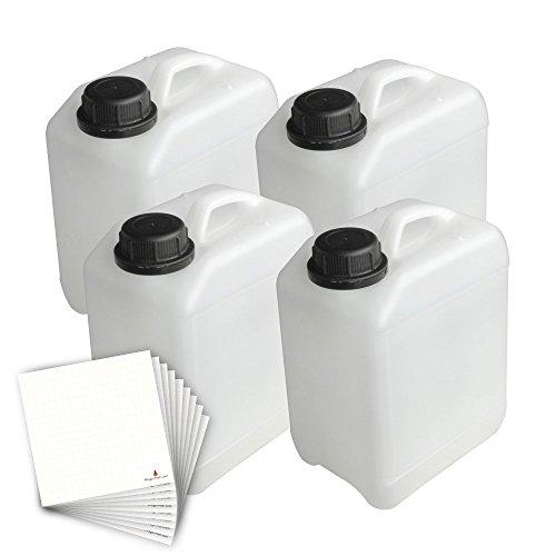 Trevendo 4er Set Kanister, lebensmittelecht (2,5 Liter)