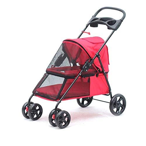 SGSG Neuer Kinderwagen |Pet Cat Animal Stroller |Hundebuggy zum Reisen |Reise-Tierarzt Kinderwagen Behinderter Kinderwagen |Haustier Roadster |Faltbar
