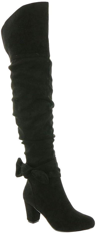 Frauen Pumps Rund Wildleder Fashion Stiefel