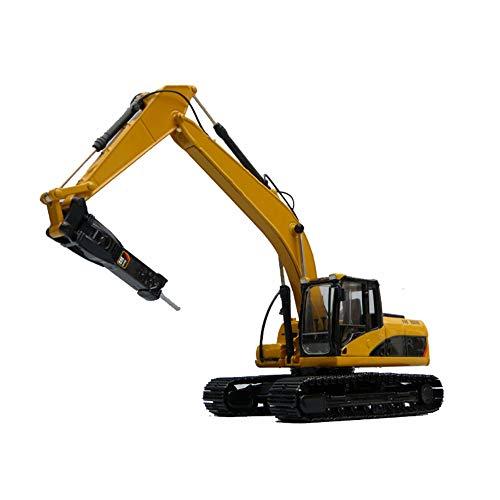 ROCK1ON Diecast Modelo de Excavadora Martillo Hidráulica de Metal 1:50 Juguete para Vehículos de Construcción Decoración de Hogar y Oficina Navidad Cumpleaños Regalo para Niño