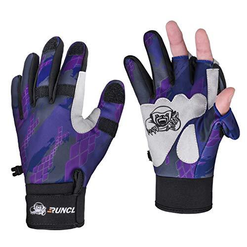 RUNCL Fishing Gloves Winter RAGUEL, Touchscreen Outdoor Fishing Gloves, Neoprene 3 Cut Finger...