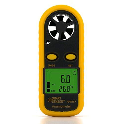 Guangcailun Medidor Sensor AR816 + Anemómetro Electrónico Termómetro Digital de Bolsillo Velocidad del Viento del Aire del Metro de Flujo medidor de Viento