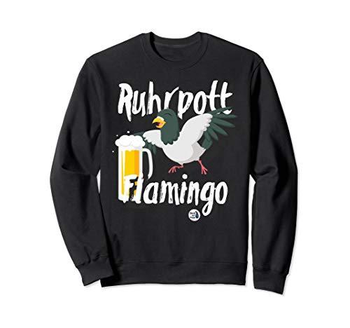 Ruhrgebiet Design Ruhrpott Flamingo Bier lustig Geschenk Sweatshirt