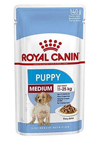 ROYAL CANIN 10 Buste 140 Grammi Medium Puppy Mangime Umido per Cuccioli