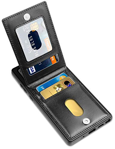 Samsung Note 20 Case, LakiBeibi Dual Layer Lightweight Premium PU Leather Galaxy Note 20 Wallet Case with Card Holders Magnetic Lock Flip Protective Case for Samsung Galaxy Note 20 (2020), Black
