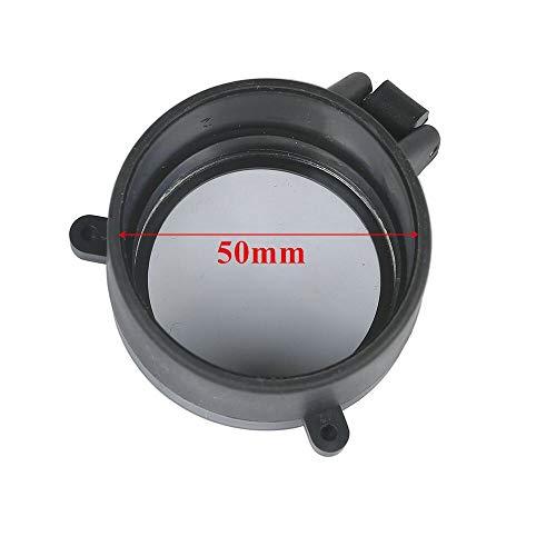 NO LOGO XBF-Scope, 30-64 mm stark, transparenter Gewehr-Bereich Flip Schnell sprießen Öffnen Objektivabdeckung Cap Eye Objektiv Augen Kaliber Pistole Schützen (Farbe : 50mm)