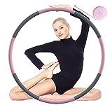 Tig Fox Fitness Hoop, 8 Piezas Professional Hu-la Desmontable Fitness Hoop con Núcleo de Acero Inoxidable Mejorado para Adultos y Masajes