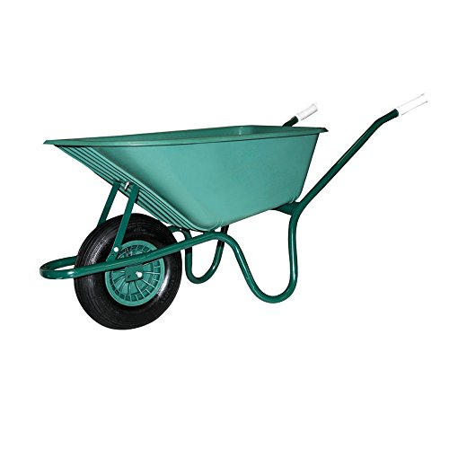 Carretilla de PVC indeformabile para jardín con rueda neumática Maurer 100Lt