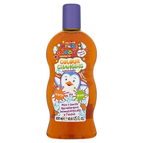 Kids Stuff Crazy - Savon moussant à couleur changeante, 300 ml - bain moussant scintillant et magique, motif licorne