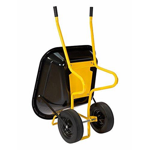 pro-bau-tec Doppelrad Schubkarre Twin mit PU Rädern, 160 L, 40100 - 2