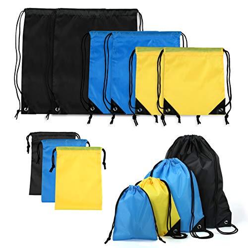 LEMESO 9 bolsas reutilizables con cordón, para viajes, impermeables, deportivas, para ropa,...