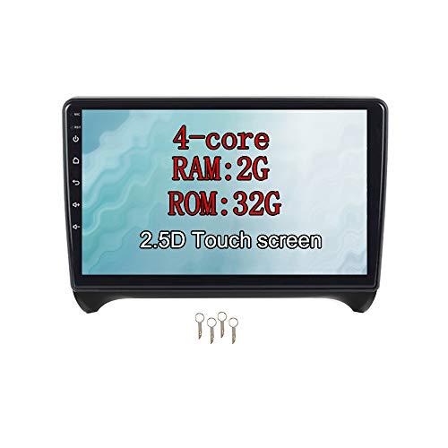 XISEDO Android 9.0 Autoradio In-dash Car Radio 9' Car Stereo 4-Core RAM 2G ROM 32G Navigatore GPS con Schermo di Tocco per Audi TT (2006-2015)