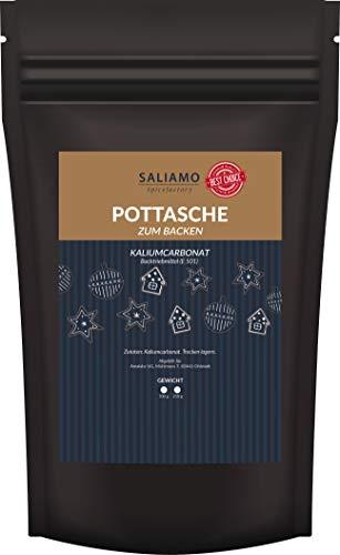 50 g Pottasche zum Backen - Kaliumcarbonat E501 - als Backtriebmittel für Lebkuchen und zur Herstellung von Seife
