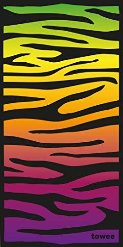 Towee praktische mikrofaser Handtücher - Schnelltrocknendes Microfaserhandtuch - Leichtes Fleece Badetuch in verschiedenen Größen - Perfektes Strandhandtuch für Fitness und Outdoor (Zebra)