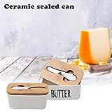 Seasaleshop2 Boîte à Beurre boîte à Beurre en céramique, Boîte à Beurre Parfait pour Déjeuner Repas Pique-Nique et Cuisine Service de Table