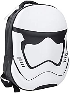 School Backpack 3D Star Wars Laptop Tablet Bag Unisex Cool Rucksack for Boys Girl Men Women (White)