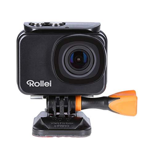 Rollei Actioncam 550 Touch I WiFi Action-CAM Impermeable 4k 30 FPS I Sports-CAM con Pantalla táctil I Filtro subacuático I Fotografía a intervalos con Lente Gran Angular de 160° I Incl. Accesorios
