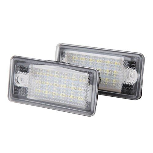Ambienceo 2 pcs Nombre de LED Lumière de plaque d'immatriculation 12 V pour Audi A3 A4 A6 A8 Q7 RS6 RS4