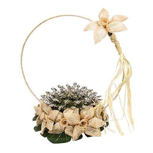 Cesto Artesanal Decorativo de Novia para Alfileres. Bouquet. Complementos. Joyas y Bisutería. Regalos Originales. Detalles de Bodas, Comuniones, Bautizos. CC