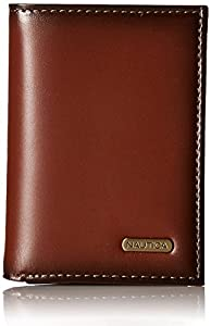 Nautica Men's Extra Large Capacity Trifold Leather Wallet