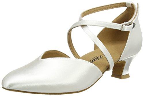 Diamant Brautschuhe Standard Tanzschuhe 107-013-092, Damen Tanzschuhe - Standard & Latein, Weiß (Weiß), 44 EU (9.5 Damen UK)