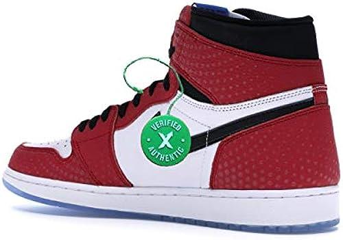 Spider Man Origin Story AJ1 Retro OG Herren Basketball Schuhe High Neck Turnschuhe schuhe