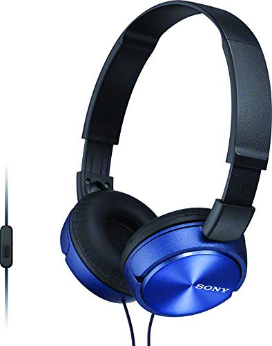 Sony MDR-ZX310AP ZX Series Wired On Ear Headphones with mic, Blue