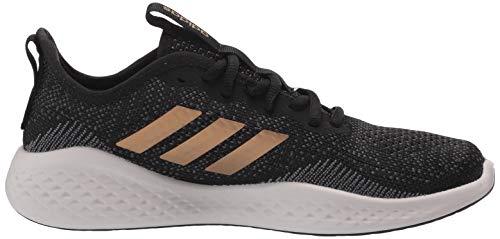 adidas Women's Fluidflow Running Shoe, core Black/Tactile Gold Met./Grey Six, 7.5 M US 5