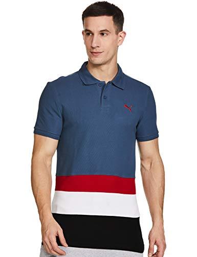 Puma Men's Regular Polo Shirt (58307302_Dark Denim Medium)