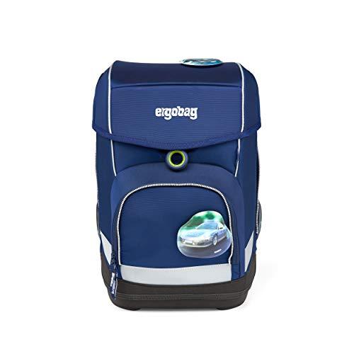 ergobag cubo Set - ergonomischer Schulrucksack, Set 5-teilig - BlaulichtBär - Blau