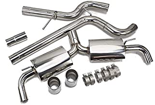 Rev9 CB-071 FlowMAXX Stainless Steel Cat-Back Exhaust Kit, Rolled Tip, Sport-Tuned Muffler, compatible with Volkswagen Golf GTI MK7.5 2018-2020 2.0T