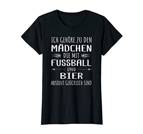 Damen Frauen Fußball Bier Frauenfussball Fußballerin Shirt T-Shirt