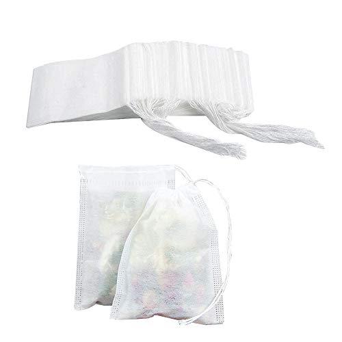 HLPIGF 400 Piezas Bolsas de Filtro de Té Desechables No Tejidas Bolsas de Té con Filtro de Sello de CordóN VacíO (3,54 X 2,75 Pulgadas)