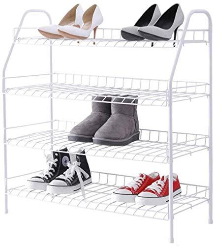 Ranuras de zapato ajustables Organizador Bastidore Rack de zapatos 4 niveles de zapatos metálicos Moderno Sencillez Estante de zapatería Easy Montaje de zapatos Soporte de zapatos Almacenamiento Organ
