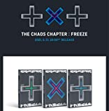 TXT-TOMORROW X TOGETHER - THE CHAOS CHAPTER : FREEZE [WORLD Ver.] Album CD+Folded Poster+GIFT (Photo acrylic key ring & card)