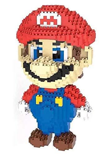 Super Mario Bros Mini Bloques De Construcción De Juguetes, Rompecabezas 3D para Los Niños, Realista Modelo Juego De Colección De Decorativo,Red Mario