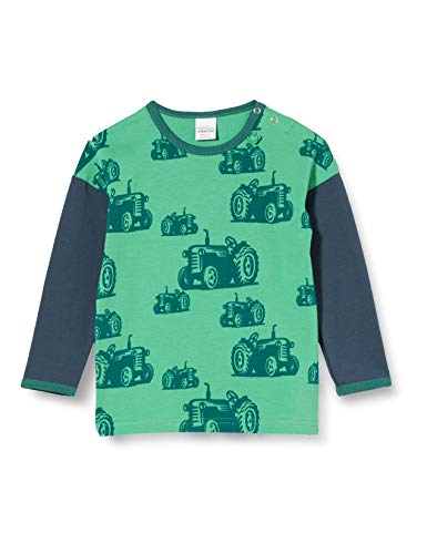 Fred's World by Green Cotton Baby-Jungen Farming T-Shirt, Grün (Green 018602201), (Herstellergröße: 92)
