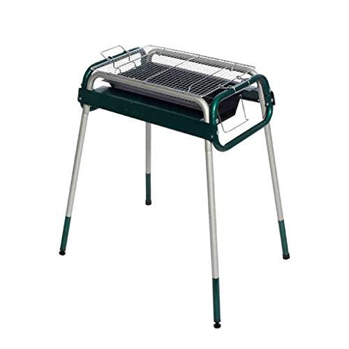 WangQ Gartengrill, Edelstahl Faltbare Gartengrill, Außen Charcoal Gewerbe Gartengrill, 71x51x69cm BBQ (Color : Green)