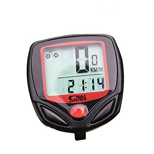 Moto odómetro, con conexión de cable de bicicletas ordenador, de múltiples funciones...