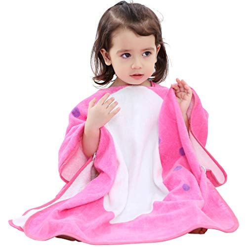 Albornoces de Bebé, Toallas de baño con capucha Niños Niñas Poncho Mantas de baño Toallas de playa 0-6 Años