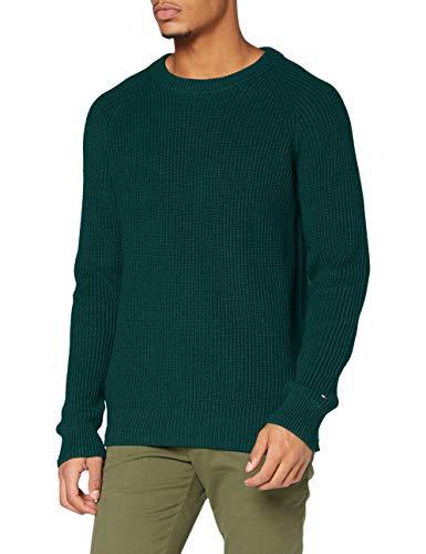 Tommy Hilfiger Herren Classic Rib Sweater Pullover, Hunter, XL