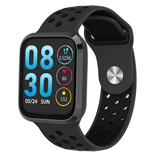 Smartwatch Wasserdicht IP68 Fitness Tracker mit Pulsmesser Smartwatch Kinder Fitness Armband Blutdruck GPS Armbanduhr Blue-Tooth 1,3 Zoll Smart Watch (Schwarz B)