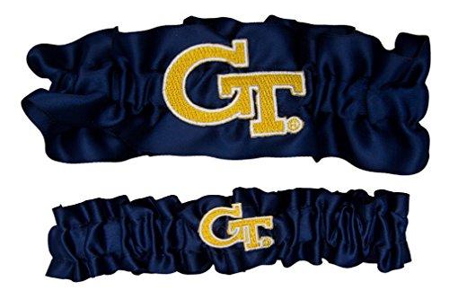 NCAA Georgia Tech Satin One zu halten, zu werfen Strumpfband Set, Marine/Gelb Gold, One Size